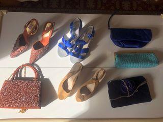 Lote zapatos y bolsos
