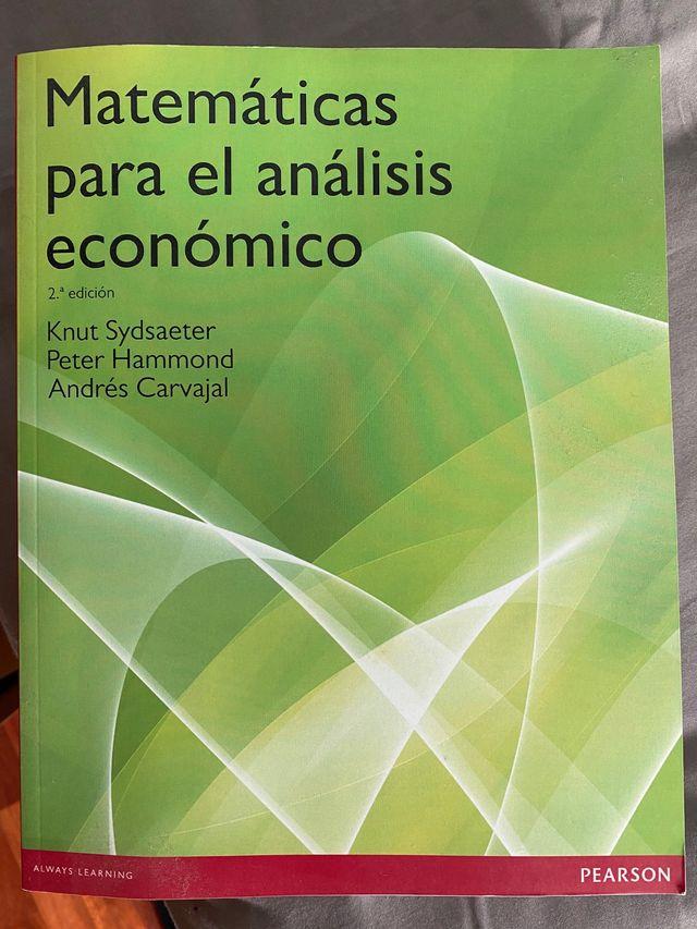 Matemáticas para análisis económico