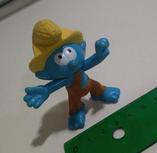 figura pitufo smurf muñeco mcdonald campero campo