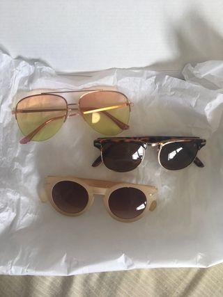Pack 3 gafas vintage