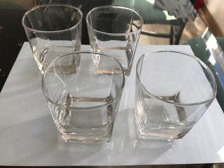 10 vasos de cristal