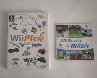 WiiPlay + Wii Sports + Wii Sports Resort