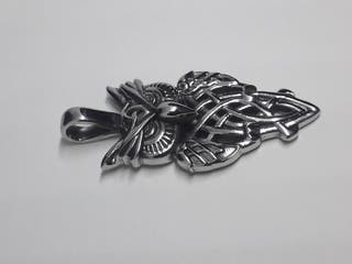 Steel Soldier Punk Rock Owl Necklace Pendant