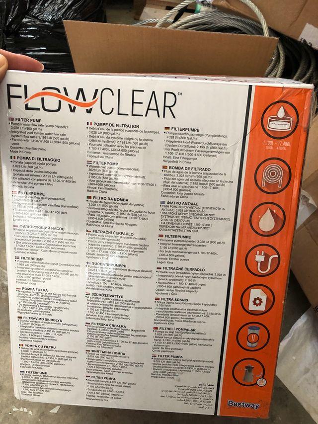 Bomba de filtrado piscina flowclear