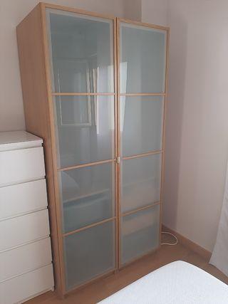 Armario 2 puertas Ikea Pax color roble