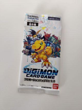 Digimon Card Game Promoción Pack Ver. 0.0