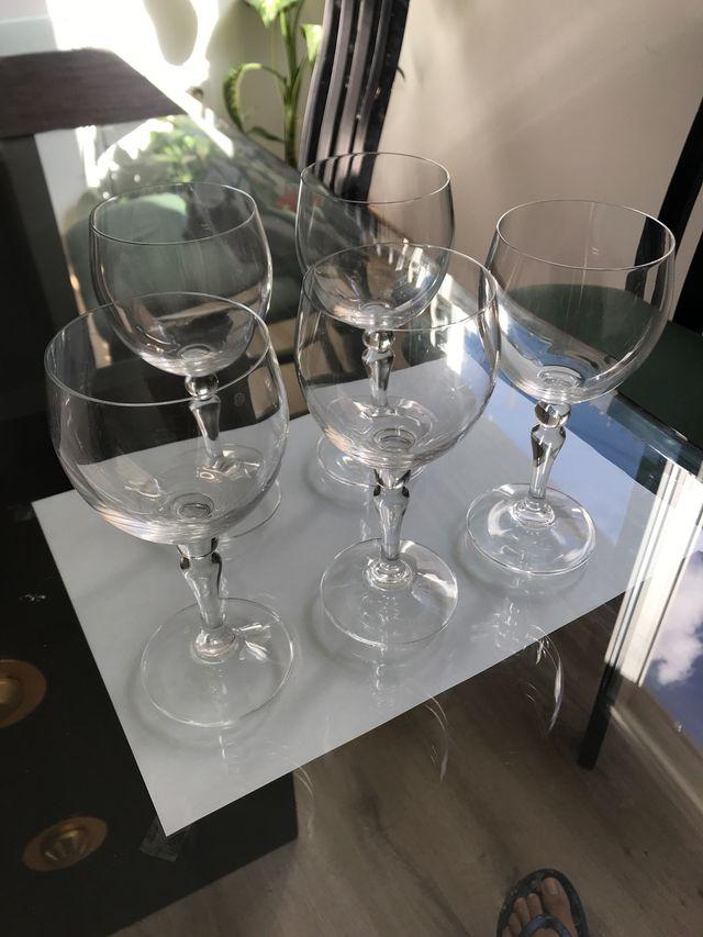 6 copas de cristal