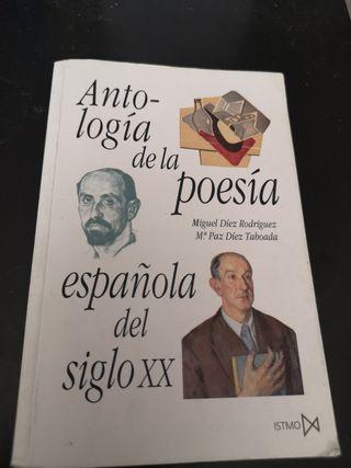 Libro de poesía española s XX