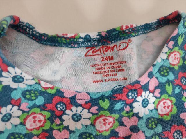 Lote de camisetas de bebé niña 2 años