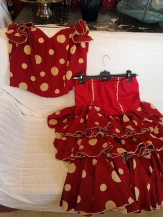 traje de flamenca dos piezas