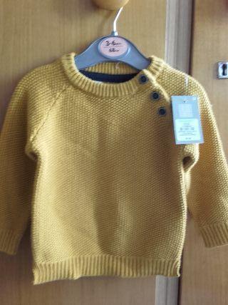 jersey tejido para bebe color Amarillo/Mostaza