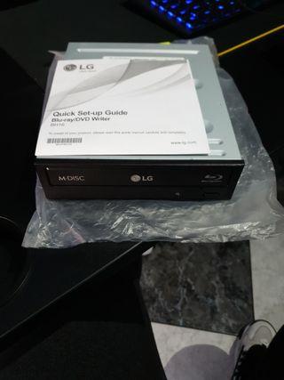 Lector Blu-ray/DVD marca LG para PC