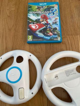 Juego Mario Kart 8 Wii U+ 2 volantes