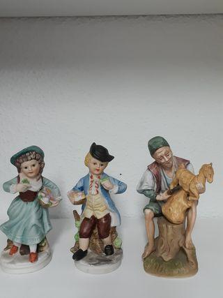 figuras porcelana decoración