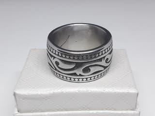 Titanium Stainless steel Men's Vintage Ring