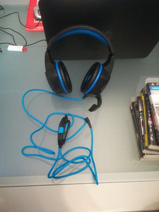Auriculares con cable y micrófono para gaming