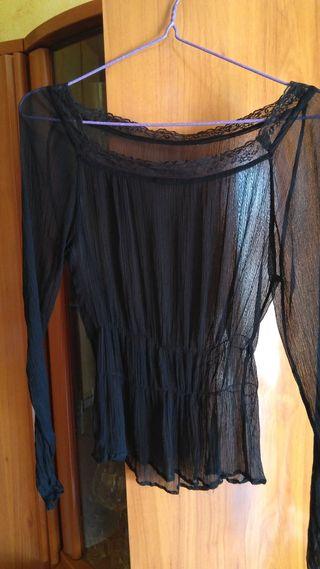 Blusa transparente talla S