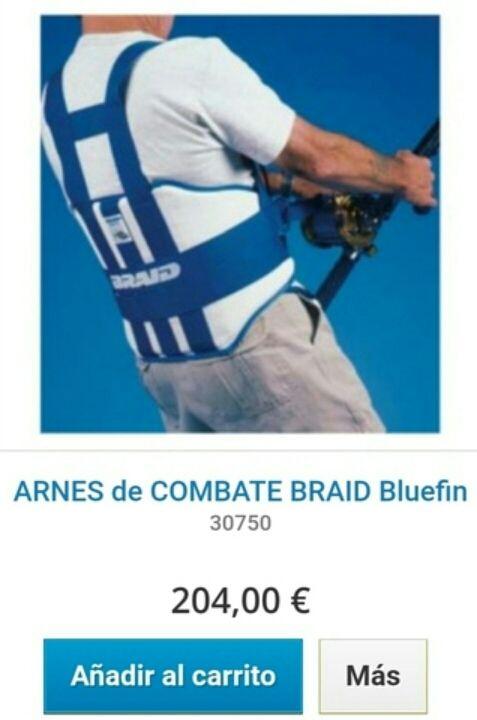 Arnes/cinturon de pesca currican