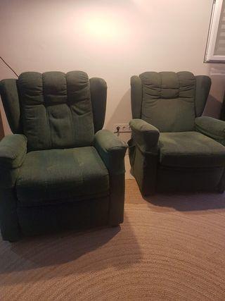 2 sillones para salón/salita de estar reclinables