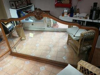 Espejo grande de aparador vintage