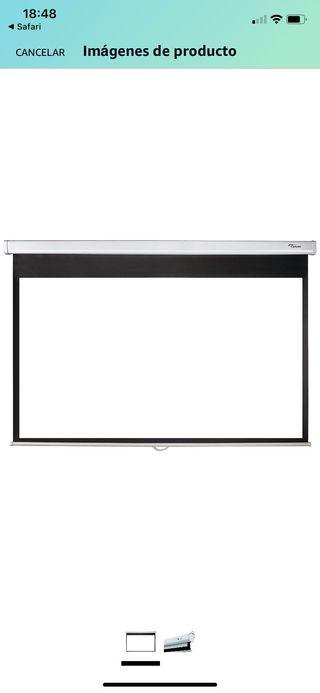 Pantalla proyector OPTOMA 2m ancho formato 16:9