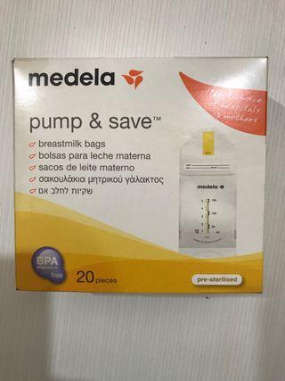 Paquete bolsas para leche materna Medela