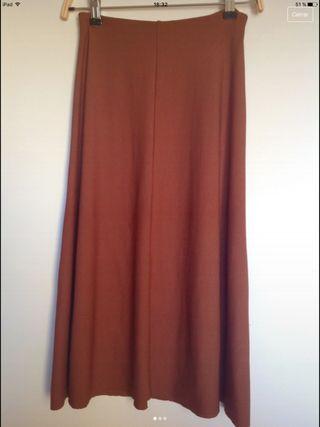 Falda color caldero Zara XS