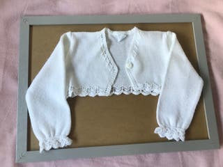 Chaqueta bebé blanca