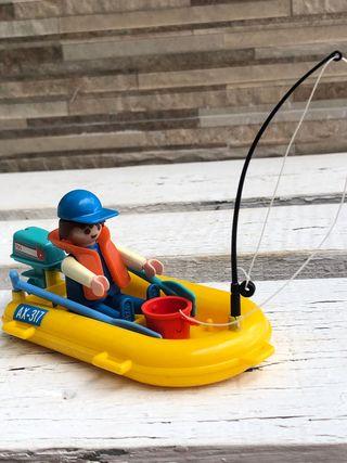 Playmobil ref. 3574 lancha zodiac Ax-317 pescador