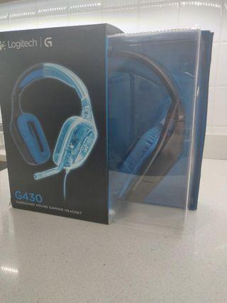 Auriculares gaming Logitech G430 como nuevos