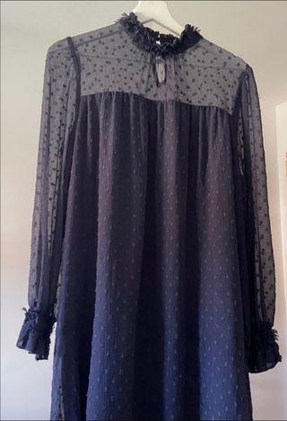 vestido zara plumeti talla M