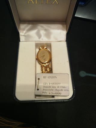 Reloj Altex de oro laminado 18 kilates