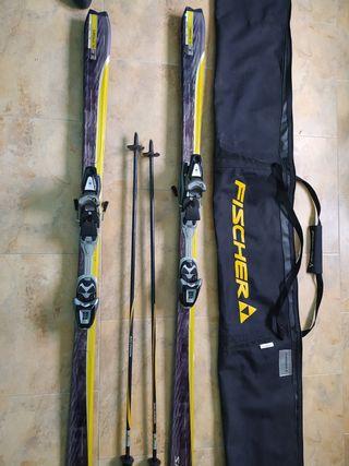 Esquís Salomon + funda + palos