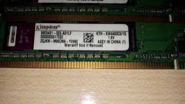 MEMORIA RAM KINGSTON (2GB) 2x1GB DDR2 800MHz