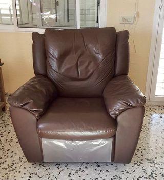 Sillón cuero relax Natuzzi reclinable