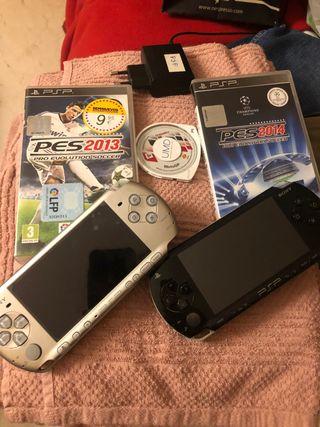 2 PSP + 2 cargadores + 3 juegos