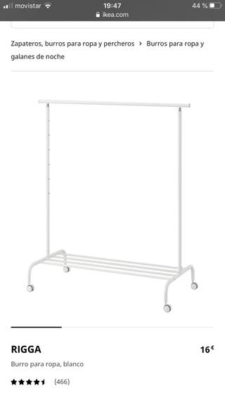 Burro perchero Rigga de Ikea