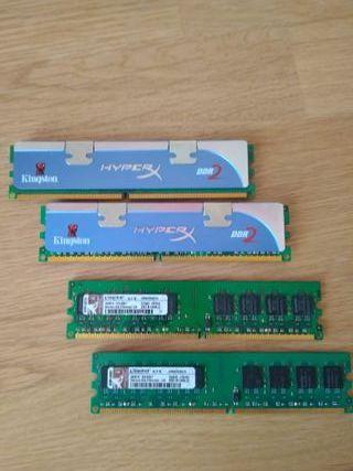 MEMORIA RAM DDR2 4X1GB