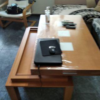 mesa pequeña de salón abatible