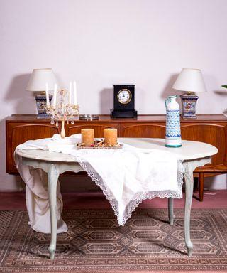 Mesa De Comedor Antigua Restaurada Magali