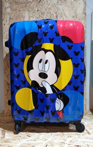 nueva con etiquetas maleta con ruedas mickey mouse