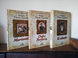 3 libros del autor Benito Pérez Galdós
