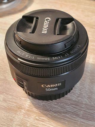 objetivo canon 50 mm 1.8