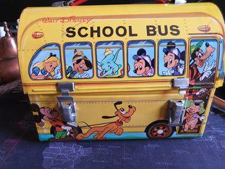 Vintage Lonchera de Hojalata, Autobús Walt Disney