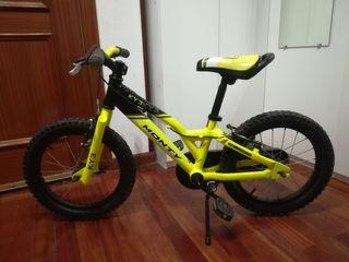 "Bicicleta Monty amarilla 16"""