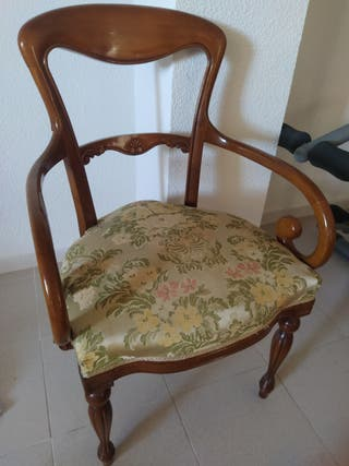 Silla estilo Luis XV