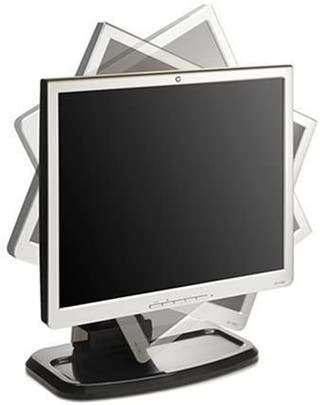 "MONITOR HP L1740, PLEGABLE Y GIRABLE 17""PULGADAS"