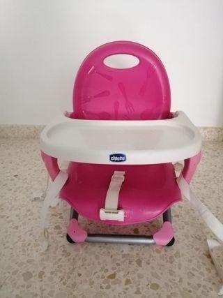 trona portátil / trona de viaje rosa