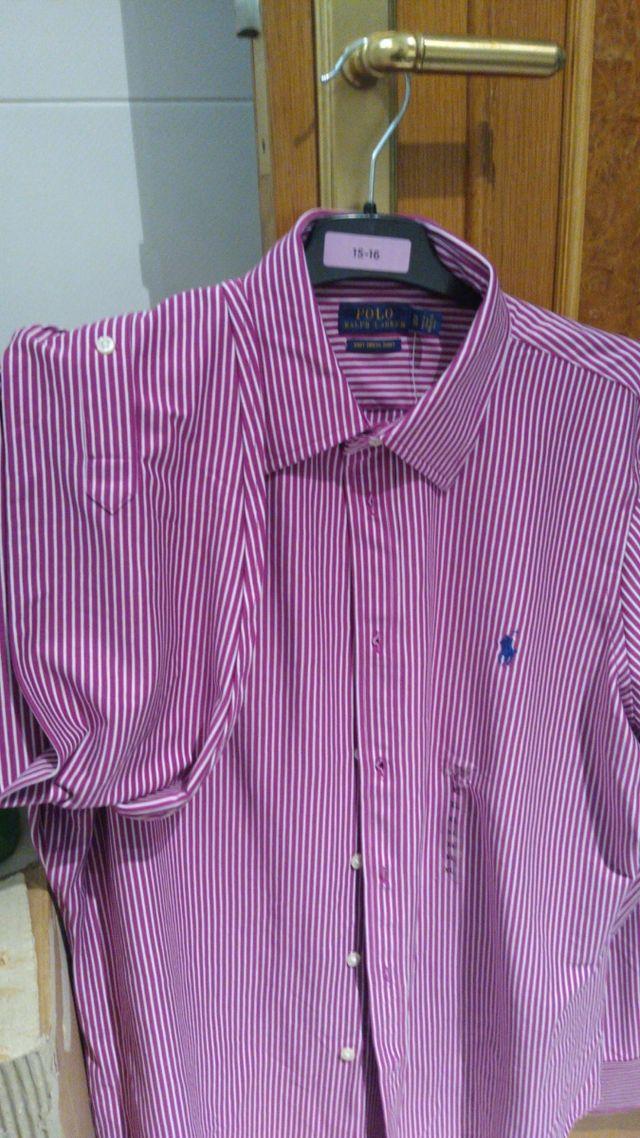 Camisa mujer XL manga larga Polo Raph Lauren. Nuev