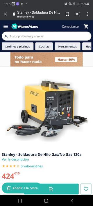 maquina de hilo sin gas o con gas estanley